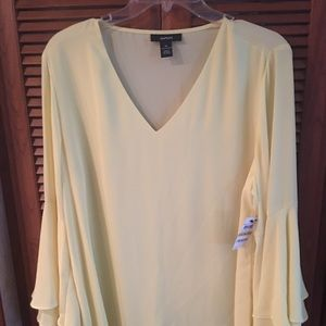 597096647a6b9f Alfani Poet sleeve blouse yellow